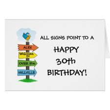 funny 30th birthday cards greeting u0026 photo cards zazzle