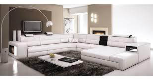 grand canapé droit deco in canape panoramique noir et orange angle droit venise