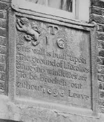 Garden Wall Inn by Plate 83 Holborn Lincoln U0027s Inn Stone Tablets British History