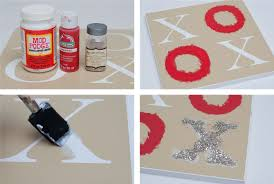 valentines craft simple xoxo sign mod podge rocks