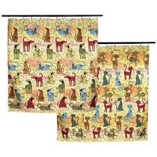 Animal Shower Curtains Festival Pets Shower Curtain The Animal Rescue Site