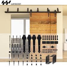 Sliding Barn Door Kits Winsoon 5 16ft Bypass Sliding Barn Door Hardware Double Track Kit
