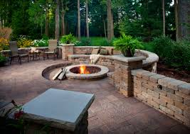 Paver Patio Designs With Fire Pit Floor Awesome Patio Decorating Ideas With Belgard Pavers And