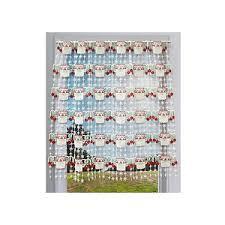 petit rideau de cuisine rideaux macramé cantonnière en bande rideaux de cuisine prêt à poser
