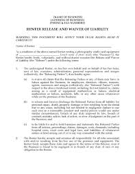 photo studio rental release and waiver form legal forms and