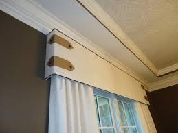 Lightweight Cornice Custom Cornice Board With Contrast Piping Tab And Button Detail