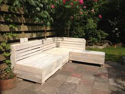Pallet Patio Furniture Pinterest by Homemade Wooden Pallet Couch White Wash Finish Make U0026 Made