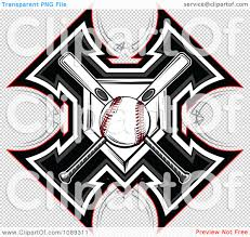 clipart baseball bats and plate crossed a cross royalty