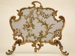 french brass rococo fire screen rococo modern fireplace tools
