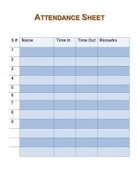 Weekly Attendance Sheet Template Free Attendance Sheet Template