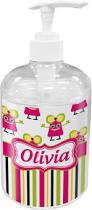 Lotion Dispenser Pink Monsters U0026 Stripes Soap Lotion Dispenser Personalized