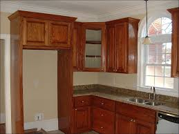 Stacked Kitchen Cabinets Kitchen Miter Cut Crown Molding How Much Is Crown Molding Custom