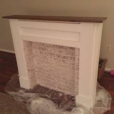 ana white faux fireplace mantel diy projects