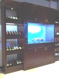 furniture exciting fish tank room divider with wine shelves and