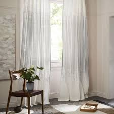 Curtains Set Echo Print Curtains Set Of 2 Platinum West Elm