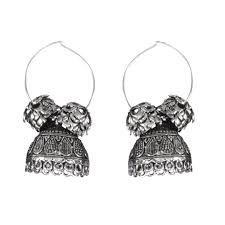 metal earings gorgeous hanging silver hue metal earrings ewig chic
