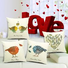 new decorative pillows cotton throw pillow cushion covers birds