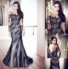 black and white wedding dresses 15 beautiful black wedding dresses bridal gowns fashionspick com