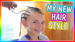 kayla gets a new hair style davises vacation youtube