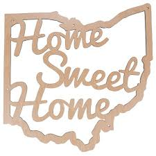 cap traps home sweet home ohio wooden wall decor sign