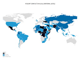 Syria On A World Map by Heidelberg Institute For International Conflict Research