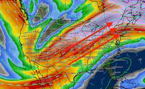 Jet Stream Forecast Map Warming Back Up Rain Friday In Cleveland Weather Forecast