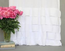 white linen curtains etsy