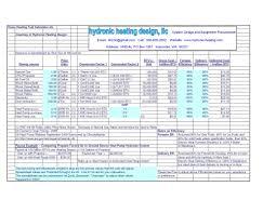 Hvac Load Calculation Spreadsheet by Fuelcalculator Hydronic Heating Design Llc