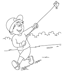 flying kite coloring page getcoloringpages com