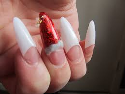 christmas stiletto nail design youtube