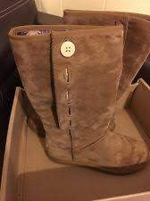 womens ugg lo pro boot chestnut ugg lo pro button boots ebay