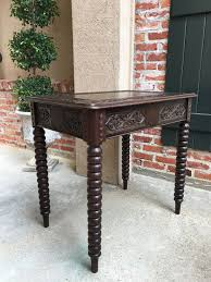 Oak Sofa Table Antique Carved Oak Sofa Foyer Table Bobbin