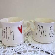 handmade personalised wedding mugs by the handmade mug company