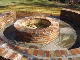 How To Make A Firepit Out Of Bricks Brick Firepit With Brick Seating Since I M Gonna All This