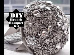 brooch bouquet tutorial easy how to diy brooch bouquet kit low cost no wires wedding
