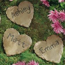 personalized garden stones personalized garden heart and 12 circle stepping walmart