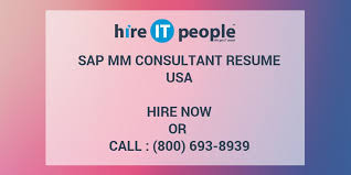 Sample Resume For Sap Mm Consultant by Sap Mm Consultant Resume Hire It People We Get It Done