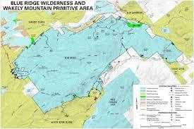 Blue Ridge Mountains Map Adirondack Directory Of Wilderness Regions Blue River Wilderness