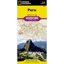 Cusco South America Map by Peru Adventure Map National Geographic Store