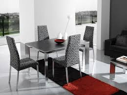 modern dining room sets sale white open shelves glass table on rug