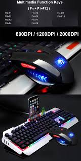 light up gaming mouse pad wired led backlit multimedia ergonomic usb gaming keyboard mouse