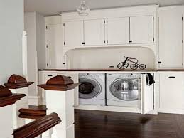 hallway bookcase washer and dryer cabinet ideas hidden washer and