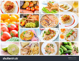 collage food menu asian american chinese stock photo 342349988