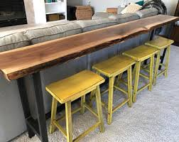 Sofa Table With Stools Bar Table Etsy