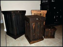 Wooden Kitchen Garbage Cans by Garbage Can Holder Out Of Pallet Wood Large Wooden Trash Can Wood