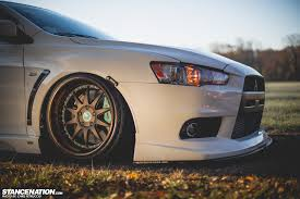 slammed cars iphone wallpaper dat evo x harold u0027s bagged mitsubishi evo stancenation