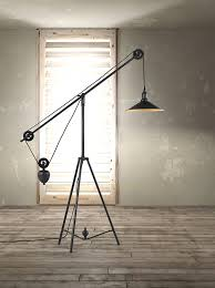 Industrial Floor Lamp Modern Industrial Floor Lamp With Lamps Caged Edison Bulb Designs