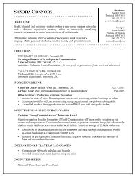 Student Internship Resume Template Resume Templates For Graduate Students Graduate Student Cv
