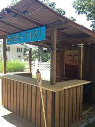 Pool Shed Ideas by Diy Tiki Bar My Hubby Built Things I Want In My Backyard