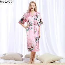 robe de chambre en satin pour femme 2017 mode femmes de soie longue satin peignoir chemise de